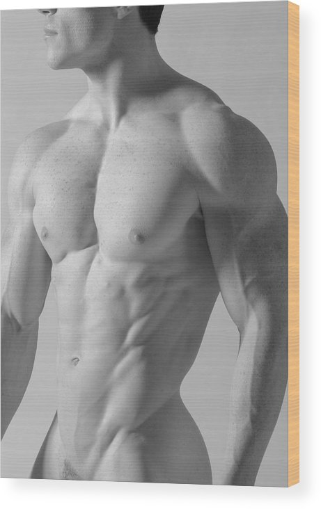 Nude Wood Print featuring the photograph Torso C by Dan Nelson