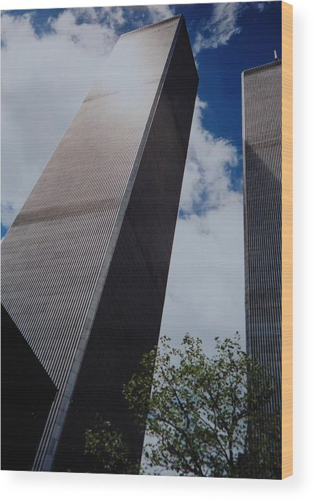 Wtc Wood Print featuring the photograph W T C 1 And 2 by Rob Hans