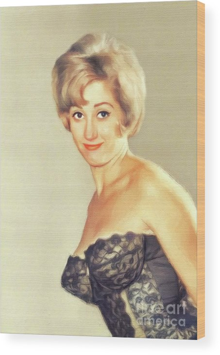 Liz Wood Print featuring the painting Liz Fraser, Vintage Actress by John Springfield