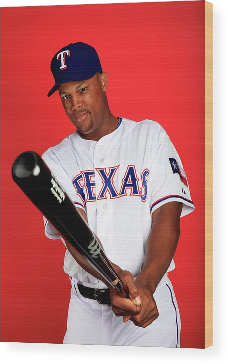 Media Day Wood Print featuring the photograph Adrian Beltre by Jamie Squire