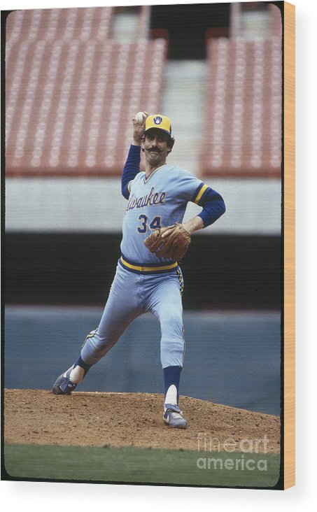 1980-1989 Wood Print featuring the photograph Rollie Fingers by Rich Pilling