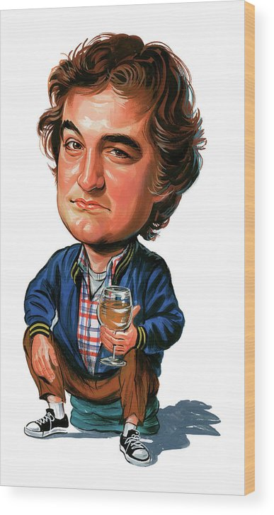 John Belushi Wood Print featuring the painting John Belushi by Art