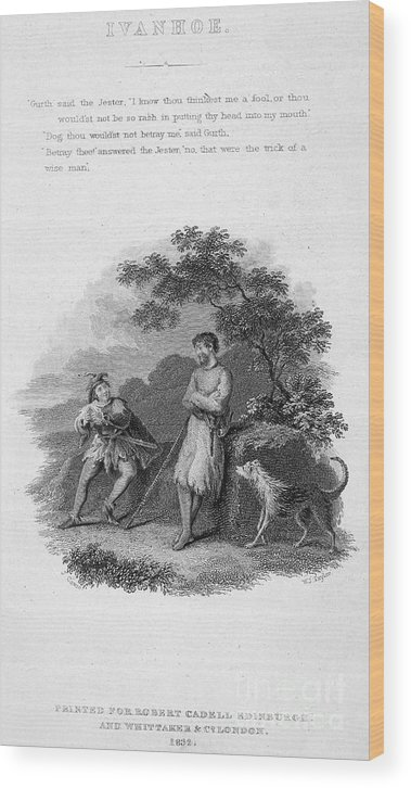 1832 Wood Print featuring the photograph Scott: Ivanhoe, 1832 by Granger