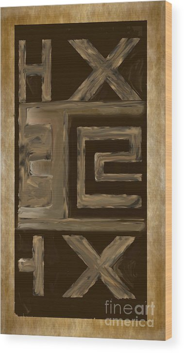 Abstract 49 Wood Print featuring the painting Abstract 49 by Heinz G Mielke