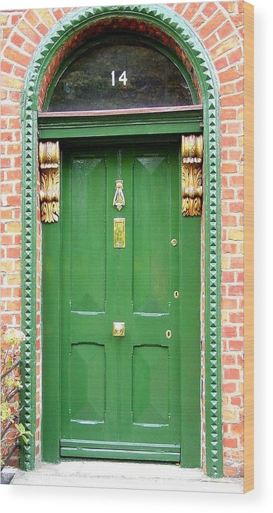 Dublin Doors Wood Print featuring the photograph Dublin Door Three by Kathleen Horner