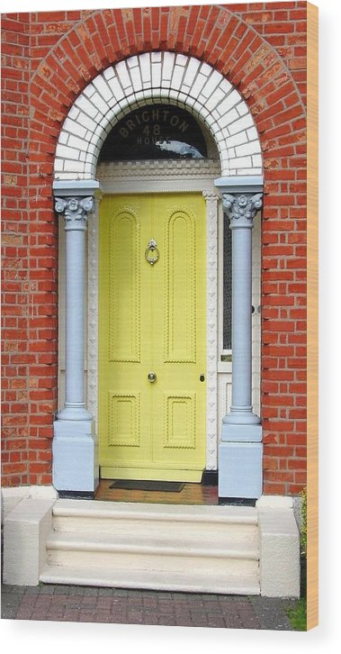 Dublin Doors Wood Print featuring the photograph Irish Door Five by Kathleen Horner