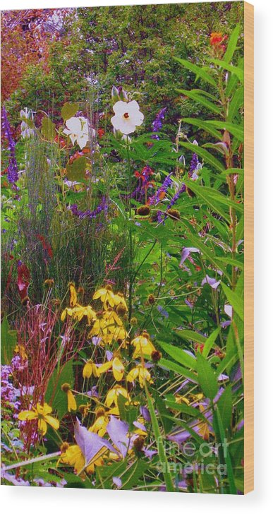 Wildflowers Wood Print featuring the photograph September Wildflowers by Maria Scarfone