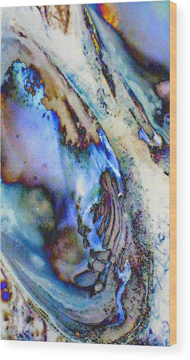 Microscopics Wood Print featuring the digital art Dois Escudos by Michele Caporaso