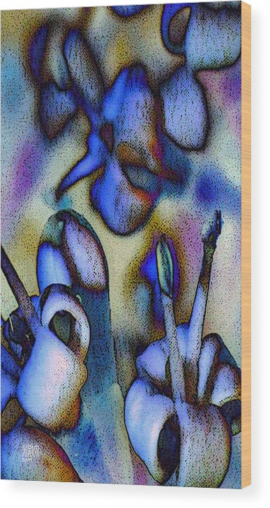 Flowers Wood Print featuring the digital art Fiori Molto Piccoli by Michele Caporaso