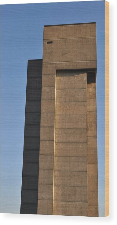 Building Wood Print featuring the photograph High Rise by Tim Nyberg