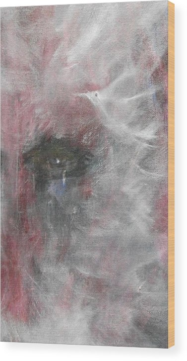 Eyes Wood Print featuring the painting Sorrow by Randall Ciotti