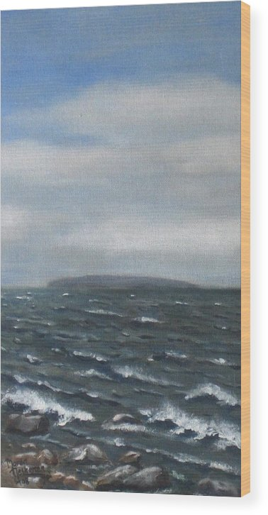 Water Wood Print featuring the painting Surge by Maren Jeskanen