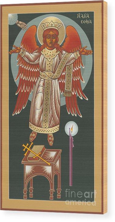 The Advent Of Hagia Sophia Wood Print featuring the painting The Advent Of Hagia Sophia 173 by William Hart McNichols
