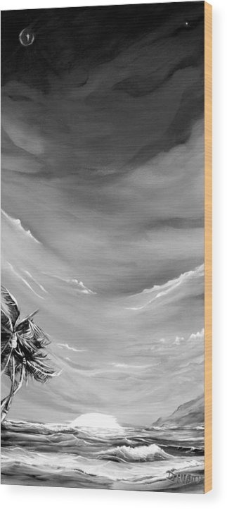 Mediajhiatt Wood Print featuring the painting Aloha Spirit by Justin Hiatt