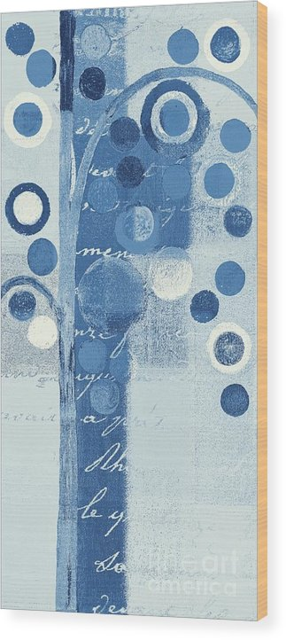 ubble Tree Wood Print featuring the painting Bubble Tree - S290-01r - Blue by Variance Collections