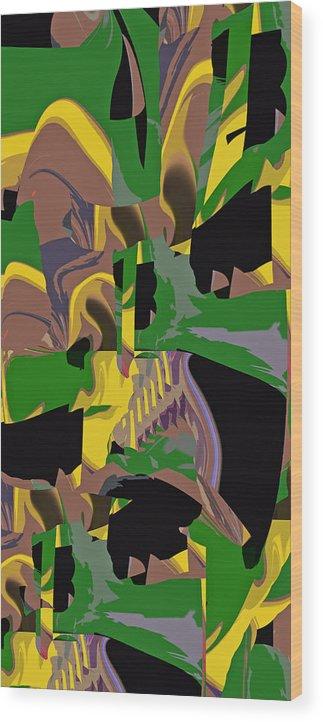 Jungle Wood Print featuring the digital art Jungle Dance IIi Of IIi by Anne Hamilton