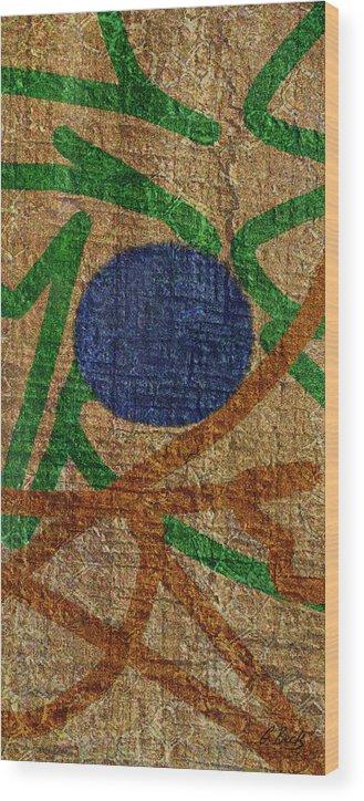 Contemporary Textured Abstract Rustic Wood Grain Earth Tones Gordon Beck Art Wood Print featuring the digital art True Blue by Gordon Beck