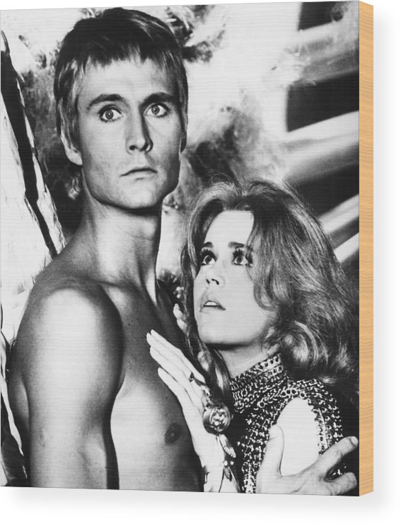 1960s Movies Wood Print featuring the photograph Barbarella, From Left John Phillip Law by Everett