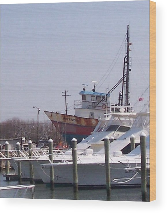 Boat Wood Print featuring the photograph Boats Docked by Pharris Art