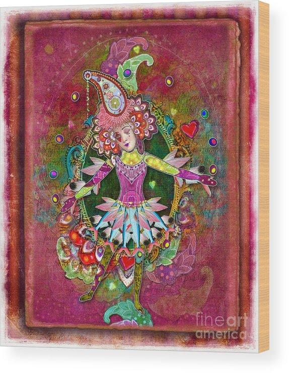 Aimee Stewart Wood Print featuring the digital art Pranceitude by Amy Stewart