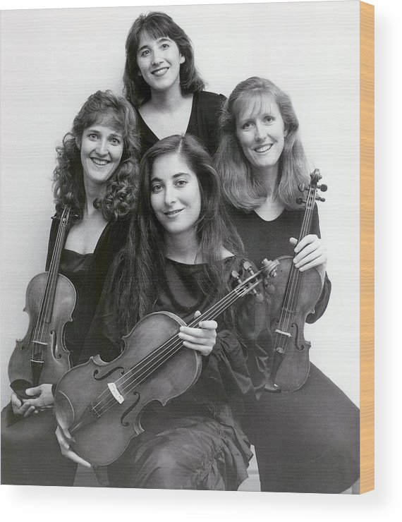 String Quartet Wood Print featuring the photograph Quartet Of Muses by Brad Williams