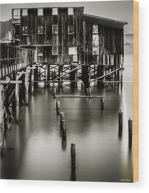 Long Exposure Wood Print featuring the photograph Red Building by Paul Haist