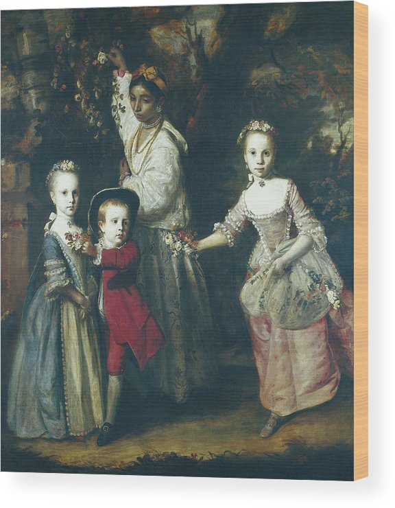 Vertical Wood Print featuring the photograph Reynolds, Sir Joshua 1723-1792. The by Everett