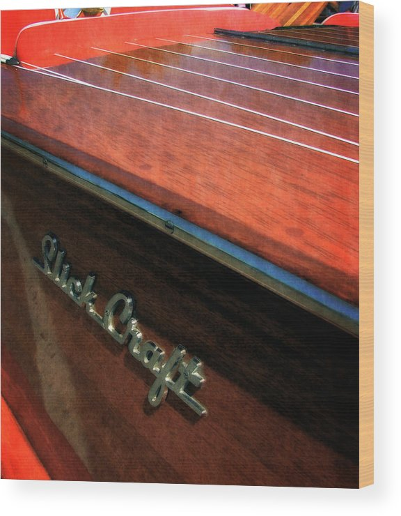 Slick Craft Wood Print featuring the photograph Slick Craft Powerboat by Michelle Calkins