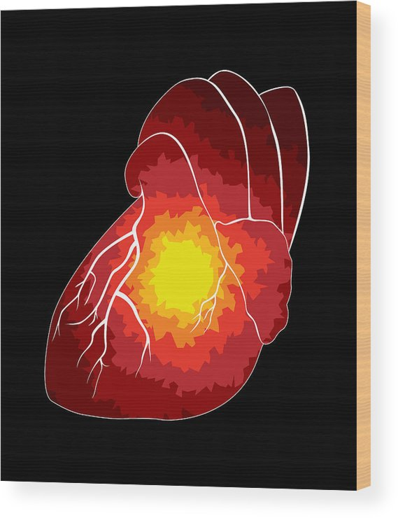 Heart Wood Print featuring the digital art Spread by Sara Ponte
