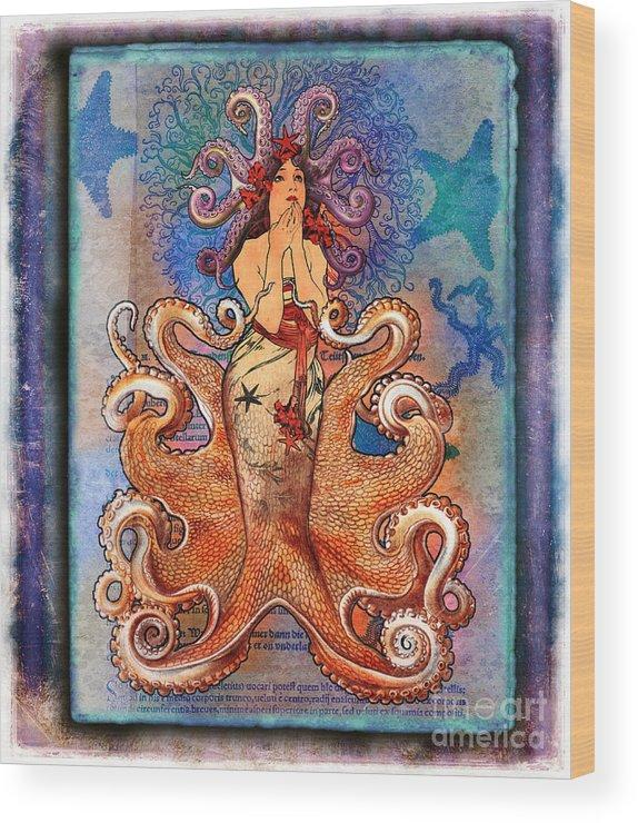 Aimee Stewart Wood Print featuring the digital art Stella by Aimee Stewart