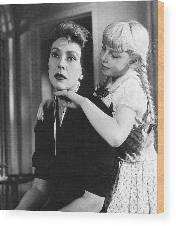 1956 Movies Wood Print featuring the photograph The Bad Seed, From Left Nancy Kelly by Everett