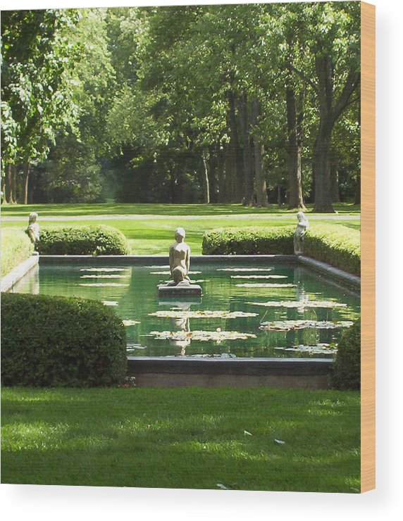 Cantigny Wood Print featuring the photograph The Colonel's Mermaid by Elizabeth MacKinney