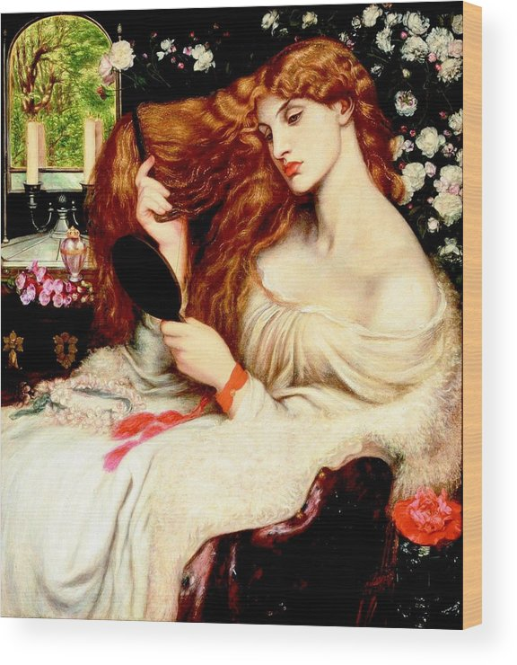 Dante Gabriel Rossetti Wood Print featuring the painting Lady Lilith by Dante Gabriel Rossetti
