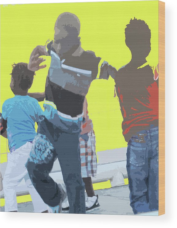 Children Wood Print featuring the photograph Play by Ian MacDonald