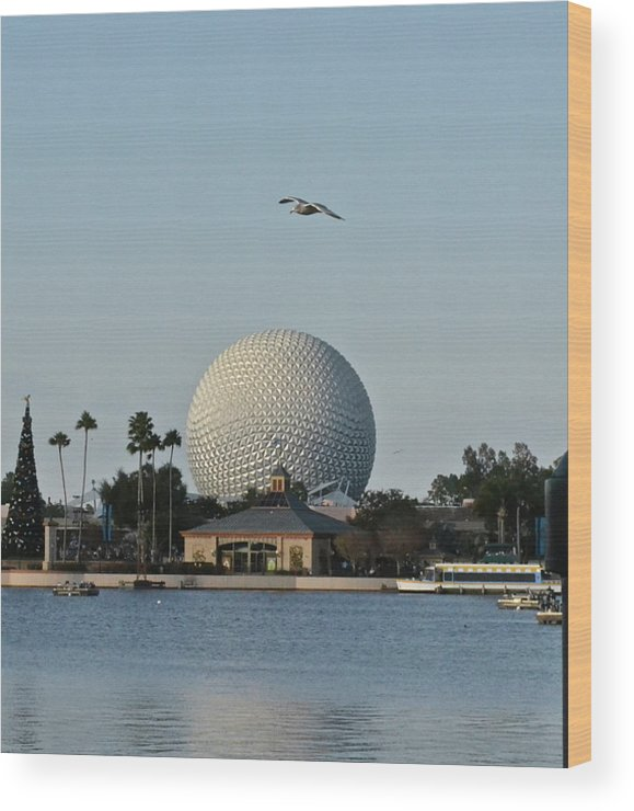 Epcot Wood Print featuring the photograph Epcot By Day by Carol Bradley