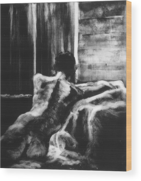 Female Wood Print featuring the painting Female II by John Clum