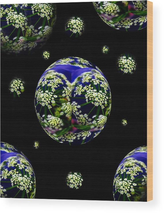 Flowers Wood Print featuring the photograph Galaxie De Fleur by Irma BACKELANT GALLERIES