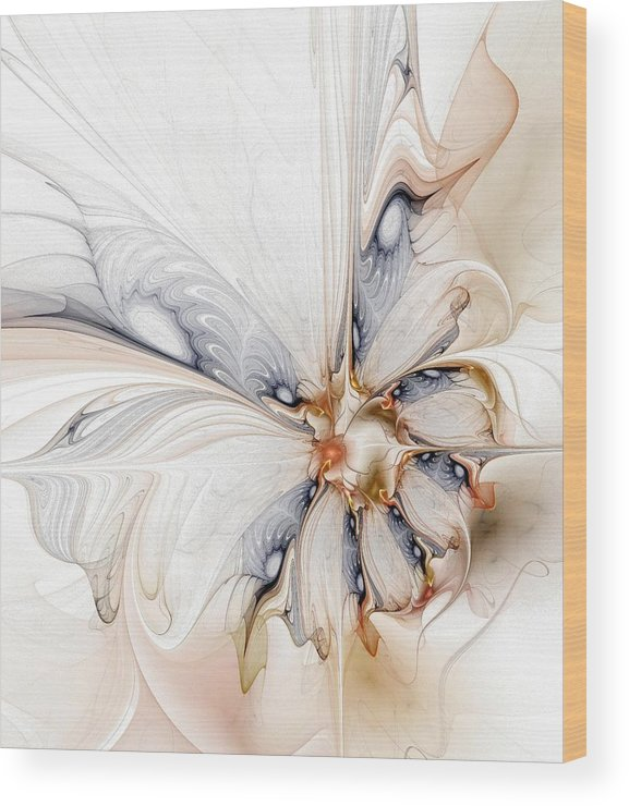 Digital Art Wood Print featuring the digital art Iris by Amanda Moore