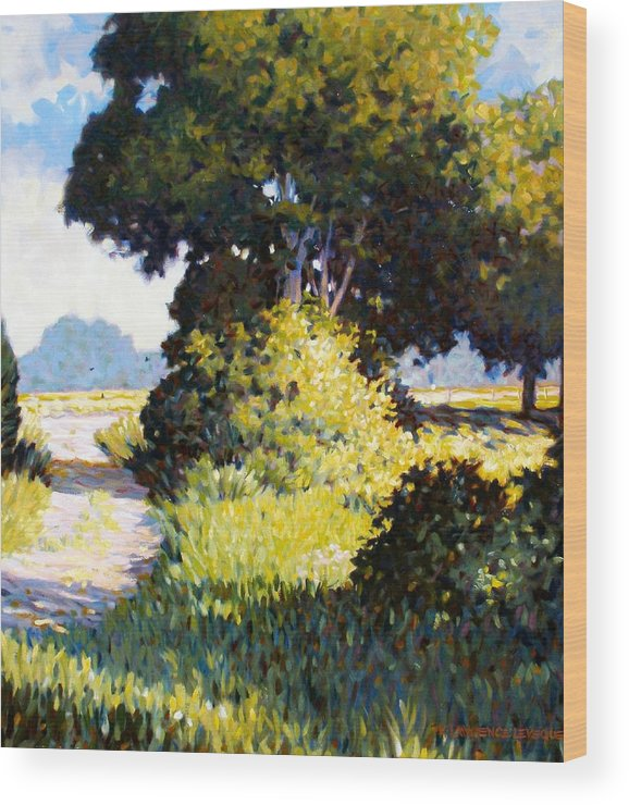 Landscape Wood Print featuring the painting Memory by Kevin Lawrence Leveque