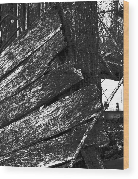 Wood Print featuring the photograph Olddoornextdoor16-18 by Curtis J Neeley Jr