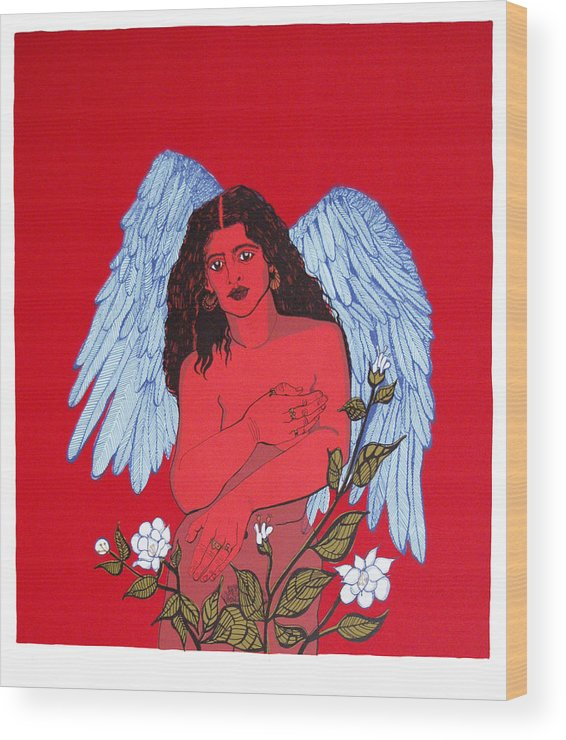 Mirta Toledo Wood Print featuring the print Renacimiento by Mirta Toledo