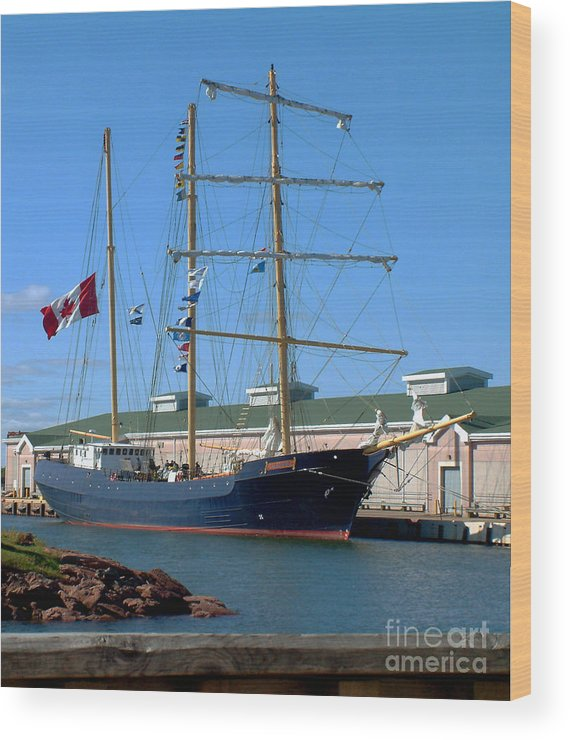 Dock Wood Print featuring the photograph Tall Ship Waiting by RC DeWinter
