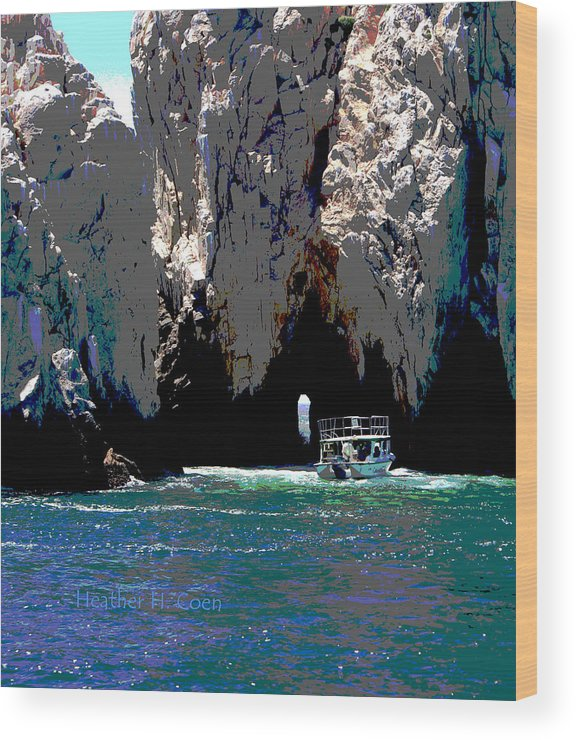 Mexico Wood Print featuring the photograph The Keyhole Mexico Cabo San Lucas by Heather Coen