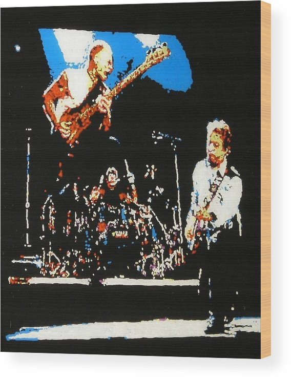 The Police Wood Print featuring the painting The Police by Grant Van Driest