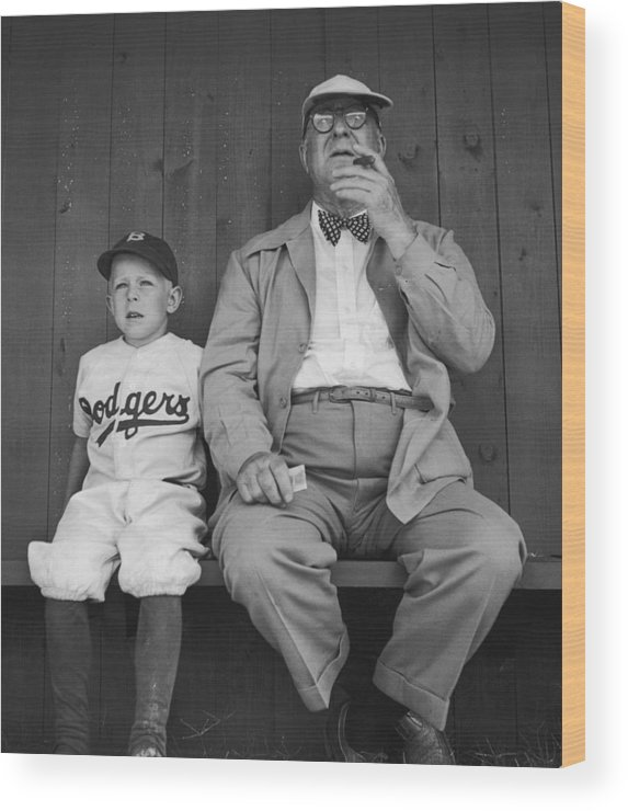 Timeincown Wood Print featuring the photograph Branch Rickey & Family by George Silk