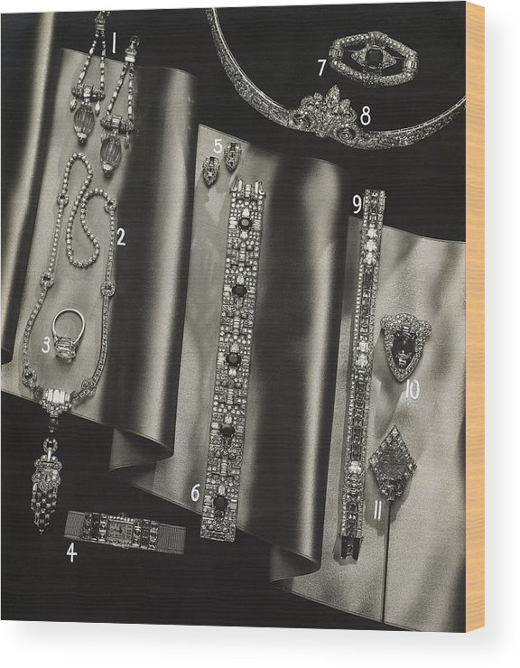 Still Life Wood Print featuring the photograph Elegant Jewelry From Tiffany And Company by Anton Bruehl