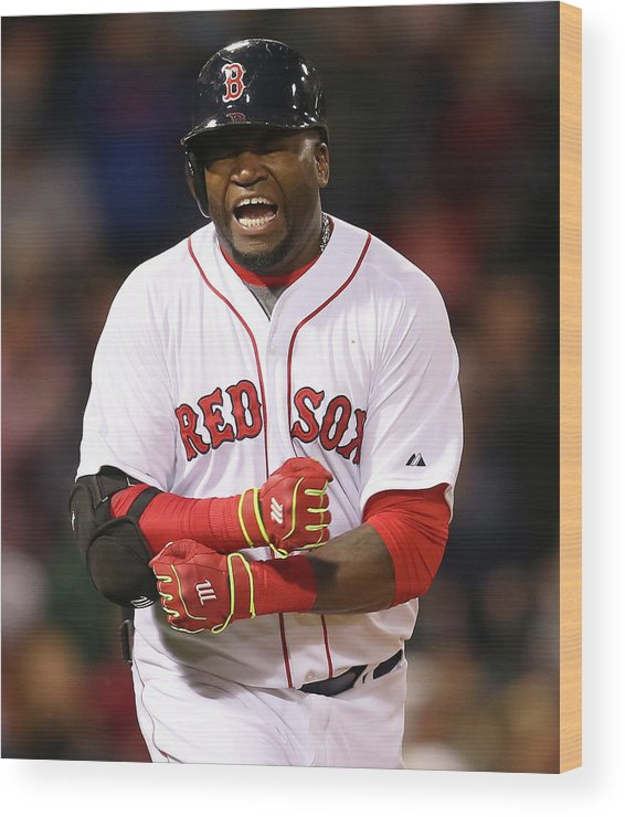 Ninth Inning Wood Print featuring the photograph David Ortiz by Jim Rogash