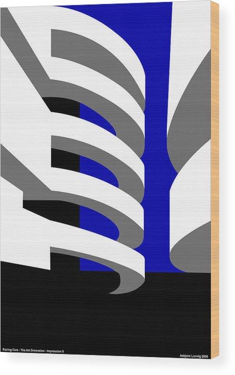 Aros Art Museum Wood Print featuring the digital art Aros Art Museum by Asbjorn Lonvig