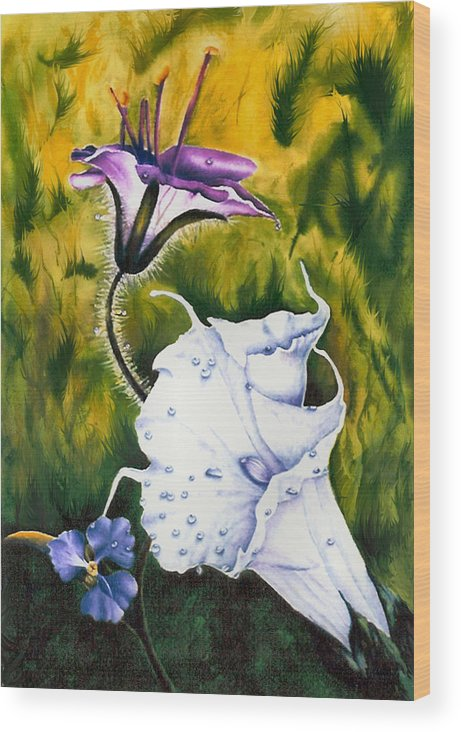 Lily Wood Print featuring the print Cindy's Lily by JoLyn Holladay