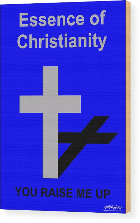 Essence Of Christianity Wood Print featuring the digital art Essence Of Christianity by Asbjorn Lonvig